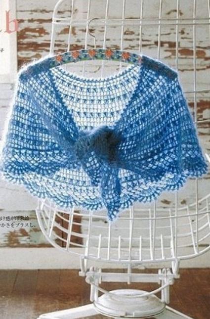Вязание полукруглой шали спицами 23