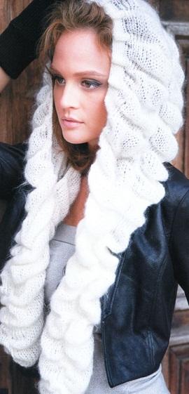 Схема вязания шапки-шарфа .