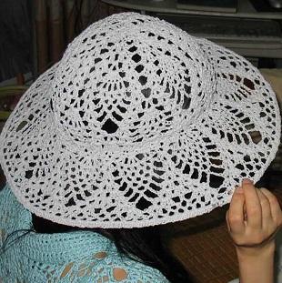 Схема летней шляпки