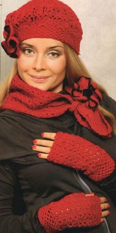 Вязание шапок.берет и шарф