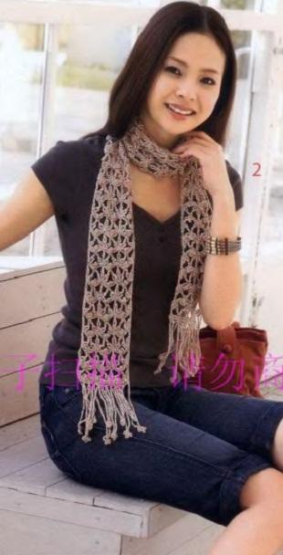 Связать шарф крючком
