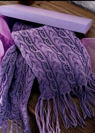 Схема для шарфа спицами