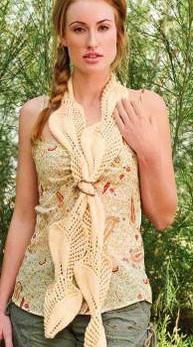Узор для шарфа спицами