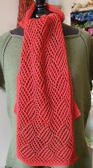 Вязание шарфика спицами