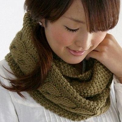 Как связать шарф снуд спицами + подборка узоров для
