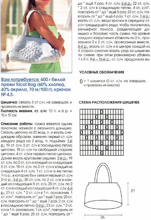 Вязание крючком модели сумочек 41