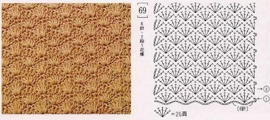 Схема для вязаного крючком