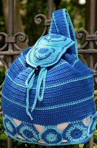 Вязание рюкзака крючком