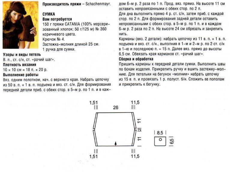 Сумочка крючком схема