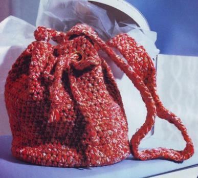 8532. Рюкзак вязанный крючком модная и функциональная деталь на отдыхе и...