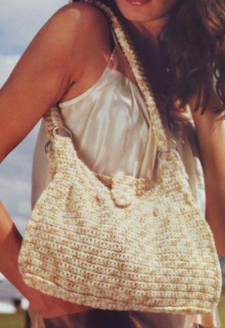 Летняя вязаная сумка