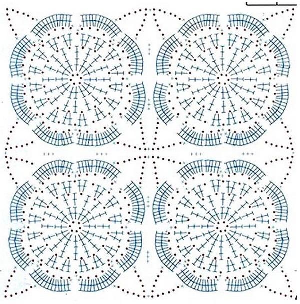Схема вязания ажурной сумки