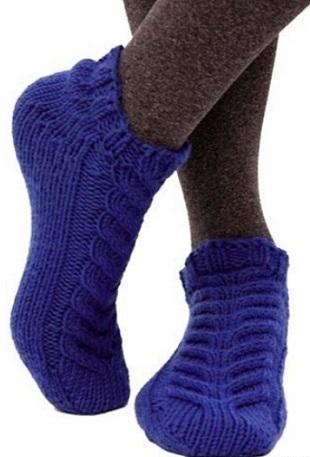 Носки-тапочки спицами