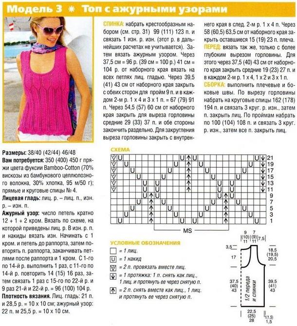 Простые модели и схемы вязания 59