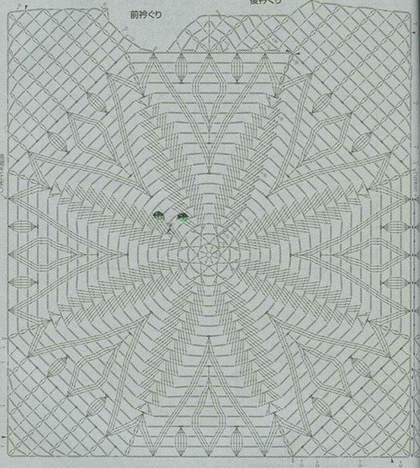Схема вязания узора для топа
