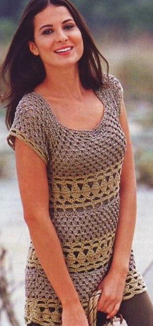 Вязание летней туники
