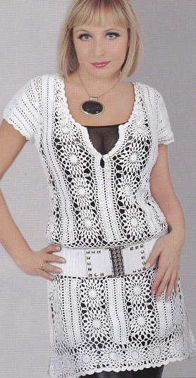 Туника - платье крючком