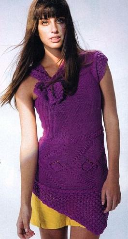 Вязаная платье туника