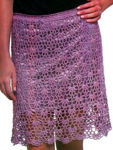 Вяжем схемы ажурных юбок крючком