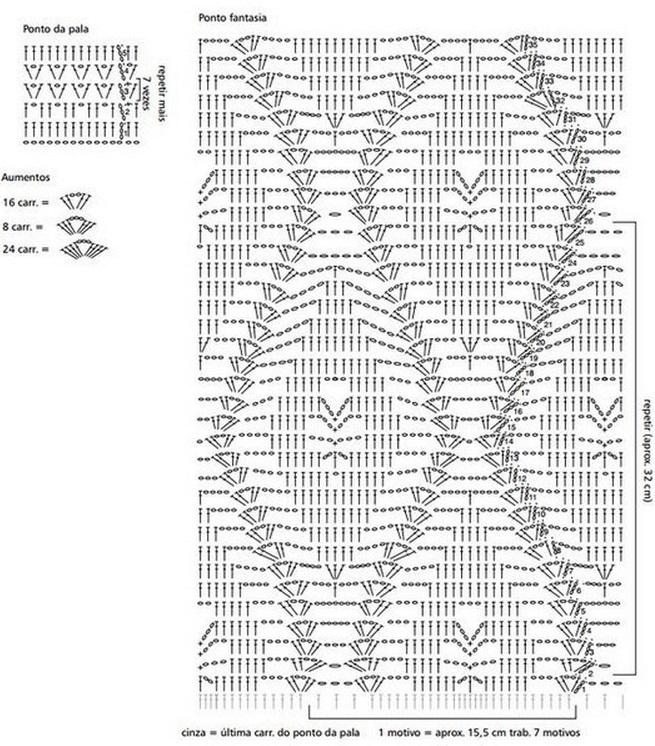 Вязаная Юбка Схема Описание