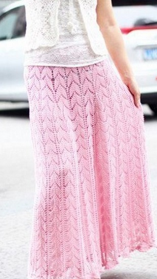 Связать длинную юбку