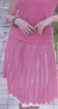 Связать ажурную юбку крючком