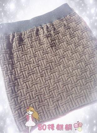 Схема вязания юбки спицами .