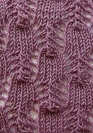 Вязание ажурного узора