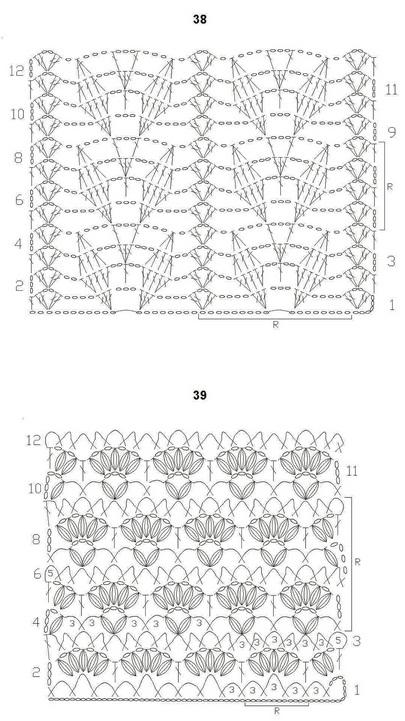 Схемы вязания ажурных мотивов