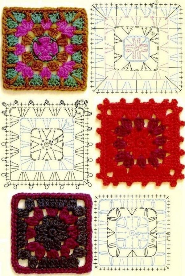 Схема вязания бабушкиного