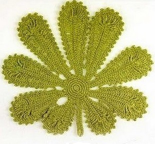 Схемы листиков крючком