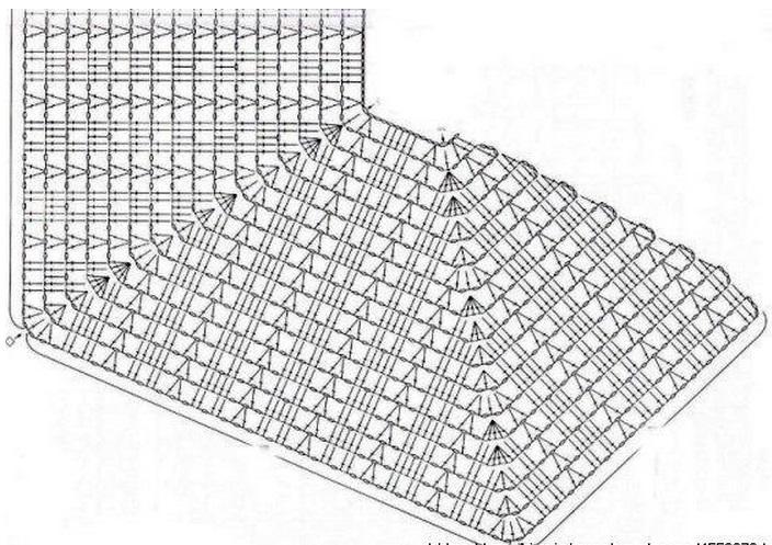 Филейное вязание от горловины 2