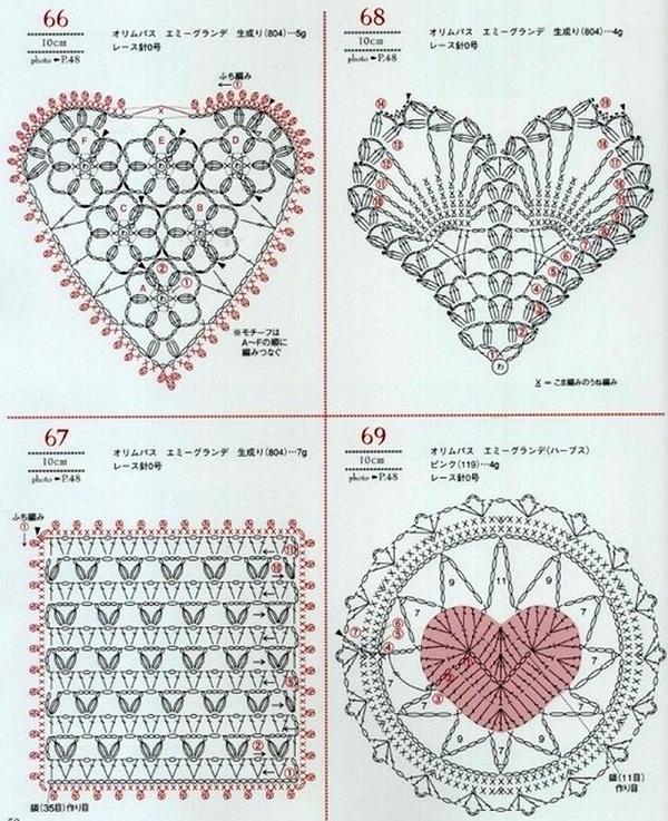 """Как связать узоры """"Сердце"""""""