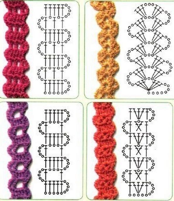 Схема вязания тесьмы крючком