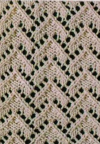Схема вязания ажурных узоров