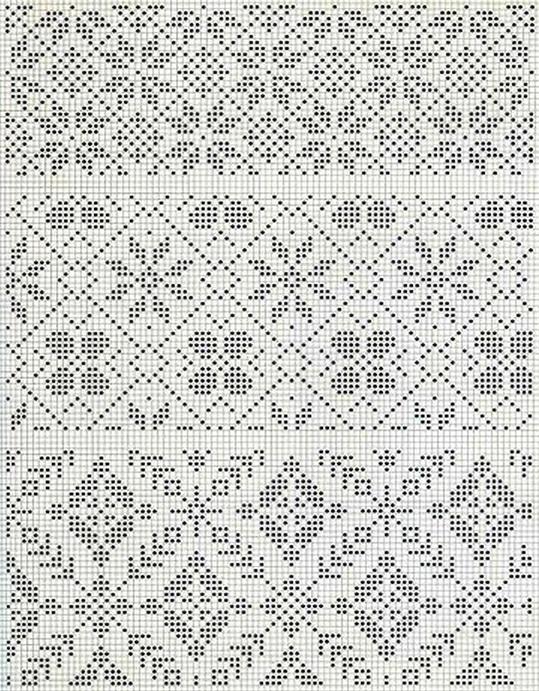Схемы вязания норвежских