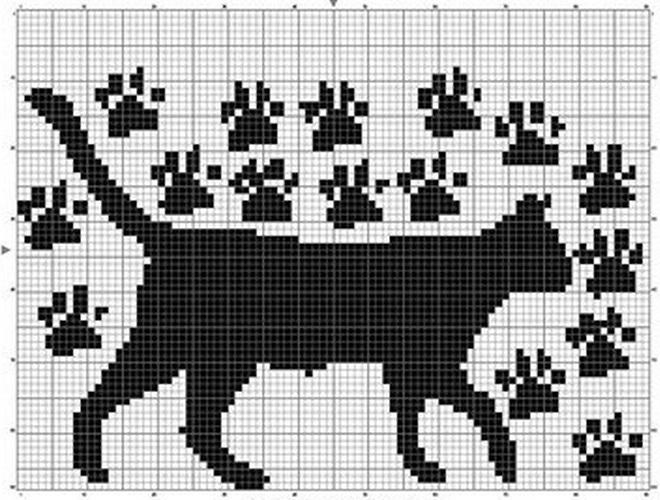 Схемы вязания кошек