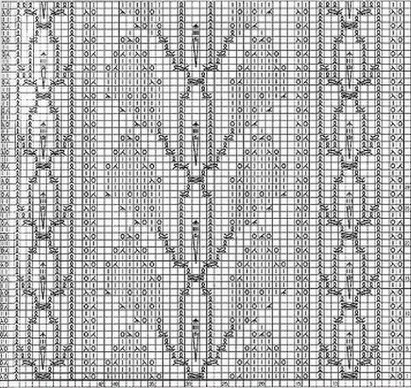 схема вязания ажурные листья спицами