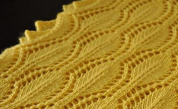 Ажурный узор для шарфа с