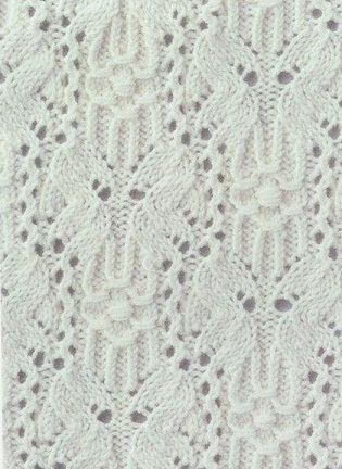 Схема вязания узора спицами .