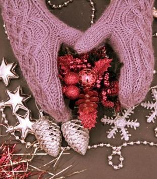 Вязание варежек с аранами