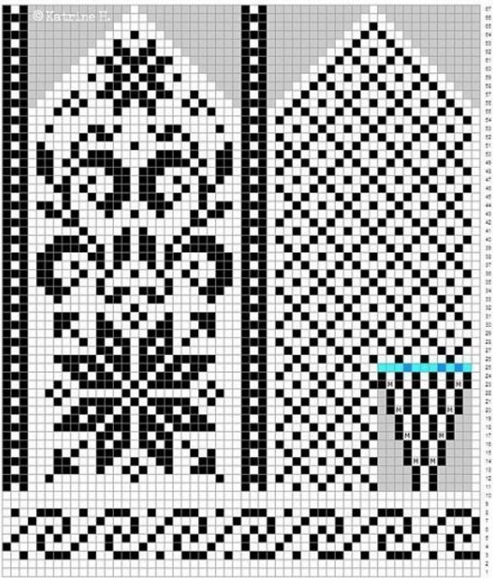 Вязание орнамент оленей