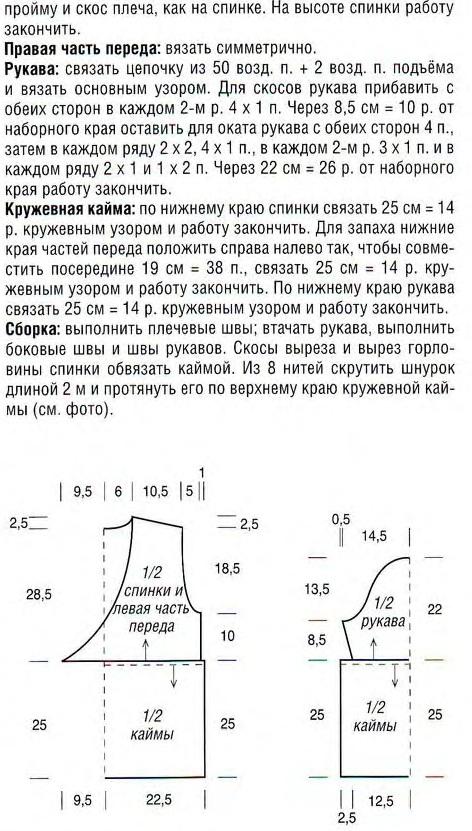 Вязание схема джемпера для мальчика до года