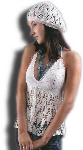 схемы вязания крючком летних беретов для девочек. летние платья.