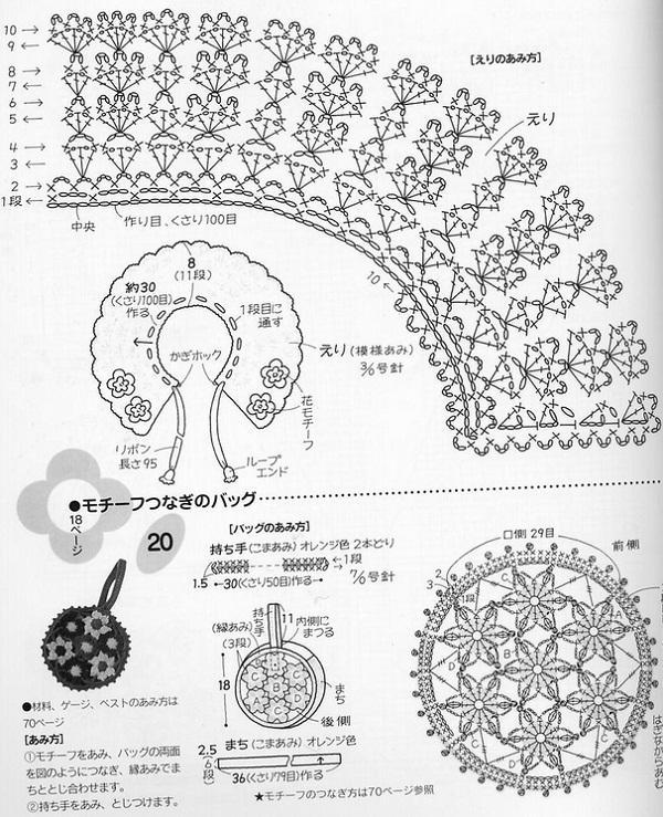 Схема вязания воротничка