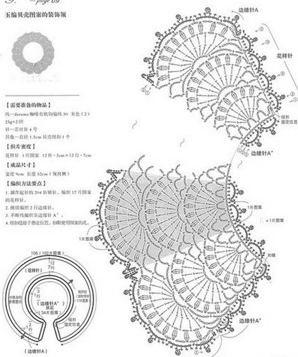 Схема вязания ажурного