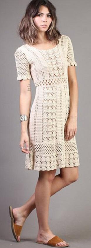 Подборка узоров для вязания платья