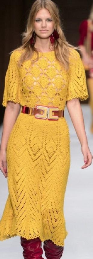 Платье крючком 2020