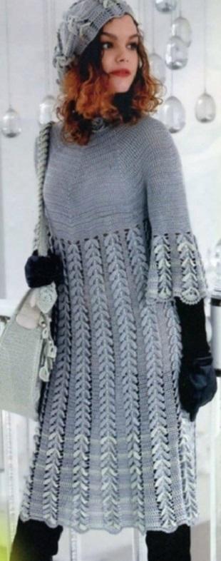 Вязание платье и сумки крючком