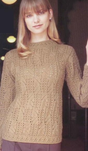 Вязать свитер спицами